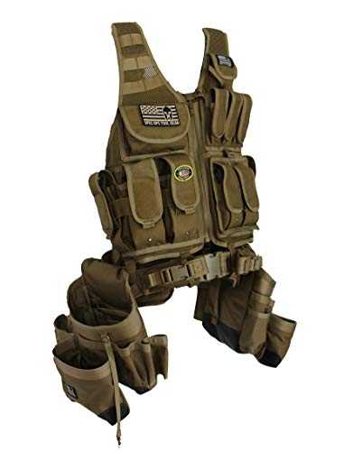 Special Operations Tool Gear SF-18 CHARLIE (The Engineer) Tactical Tool Vest (Coyote Tan)