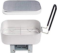 Fauge Aluminium Rijstkoker Draagbare Rijstkoker Outdoor Lunchbox met Stoomrek en Vouwkachel voor Koken Stomen
