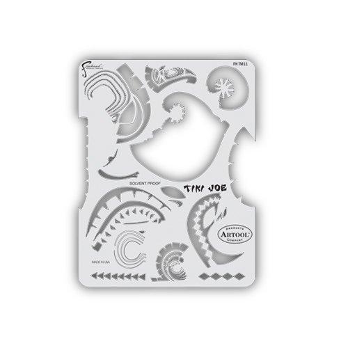 Artool Freehand Airbrush Templates, Tikki Master - Tiki Joe by Iwata-Medea