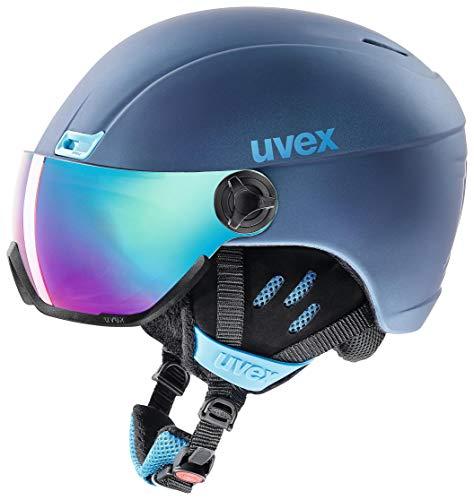 uvex Unisex– Erwachsene, hlmt 400 visor style Skihelm, navyblue mat, 53-58 cm