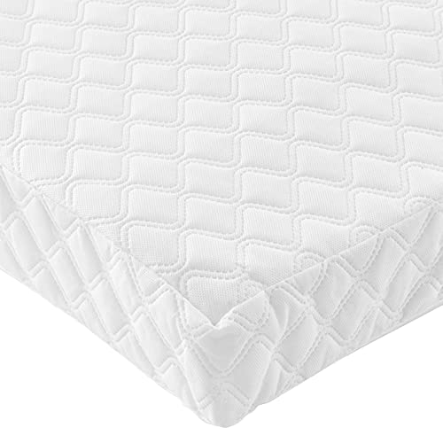 Tutti Bambini Sprung Cot Bed Mattress (70 cm X 140 cm) Breathable Spring Baby Bed Mattress - Made from Just Tec Technology