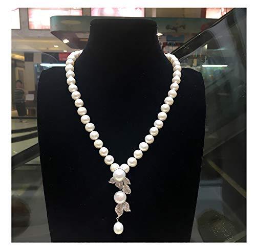 Collar de perlas de agua dulce natural para mujer, chapado en oro de 925, accesorios de alta gama, caja de regalo para novia