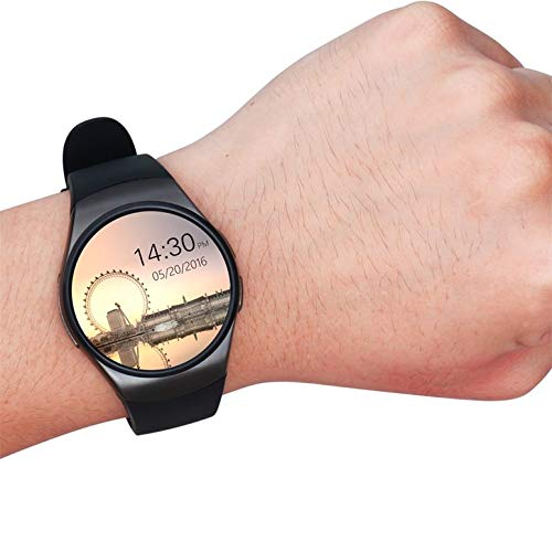 ArgoBar Smartwatch Bluetooth Phone King-Wear KW18 Sim & TF Card Smartwatch a frequenza cardiaca (Colore: Nero)
