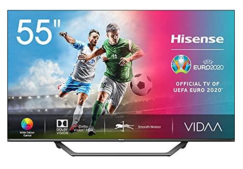 "Hisense UHD TV 2020 55AE7400F - Smart TV 55"" Resolución 4K, Dolby Vision, Wide Color Gamut, audio DTS Virtual-X, Ultra Dimming, Vidaa U 4.0, con Alexa integrada"