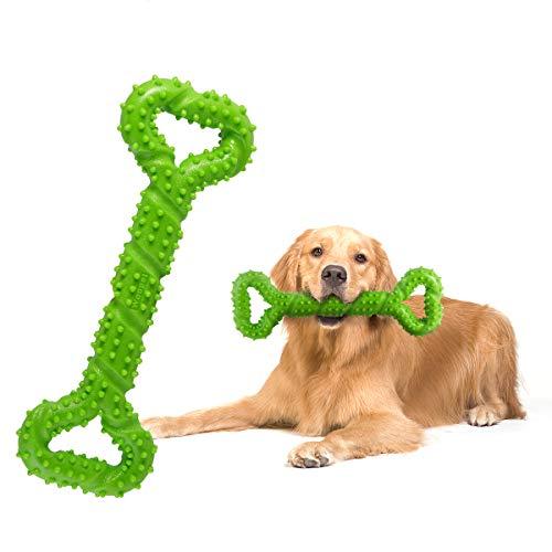 Petyoung Dog Chew Toys 13-Zoll-Spielzeug in Knochenform für aggressive Kauvorgänge, interaktives Spielzeug für die Reinigung von kleinen, mittleren und großen Hundezähnen