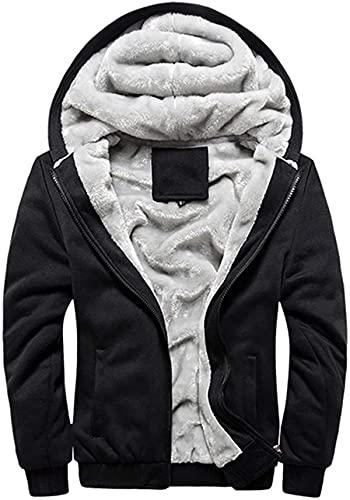 Men's Warm Pullover Workout Fleece Hoodie Jackets Full Zip Wool Warm Thick Coats for Winter