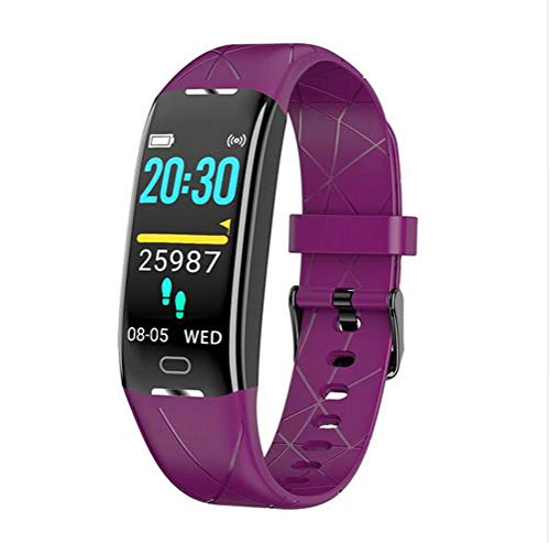 Boyuan Z21 SmartWatch Android iOS Bluetooth Pantalla táctil a Prueba de Agua Monitor de Ritmo cardíaco Medición de la presión sanguínea Podómetro Deportivo Recordatorio de Llamadas Actividad,Púrpura
