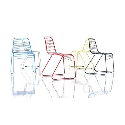 Magis N ° 4Stühle stapelbar Flux Chair Farbe dunkelgrau