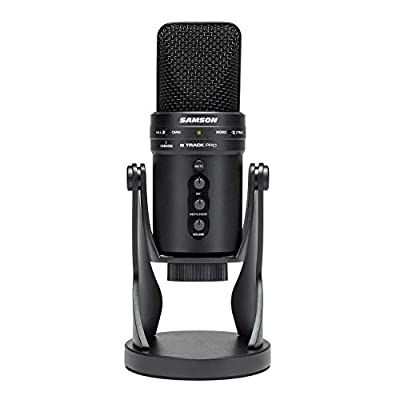 G-Track Pro - Professional USB Microphone with Audio Interface, black