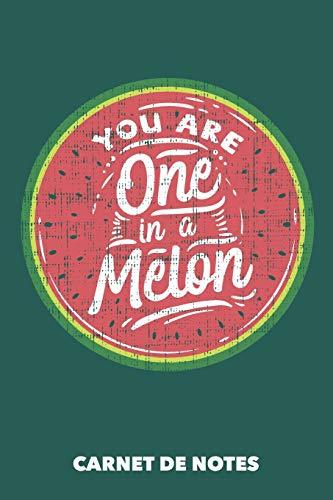 Carnet de Notes: Vous êtes un sur un melon A5 pointillé / grille de points - 120 pages pour les gens à la mode (vert océanique)