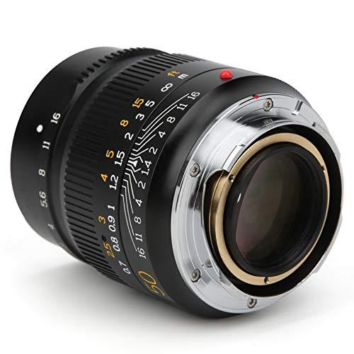 Manuelles Objektiv mit 45 ° Weitwinkel, M50 mm F1.4 Verwendet 10 Objektive ohne Verwacklungsschutz mit großer Blende. Fest für Fokusobjektiv, für Le-ica M-Mount-Kamera, für Landschaft, Architektur