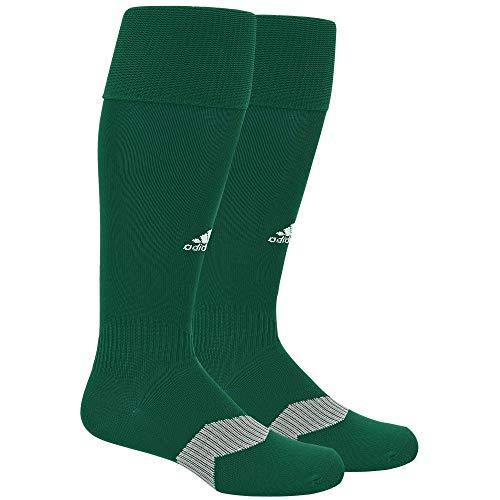 adidas Unisex Metro IV OTC Soccer Socks (1-Pair) Collegiate Green/ White/ Clear Grey, Small