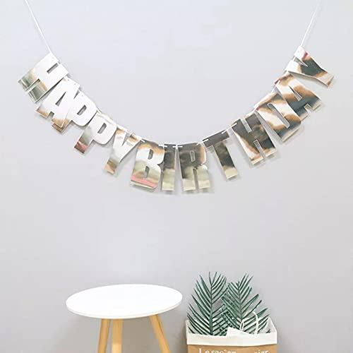 Party Decorations Glitter Paper Happy Birthday Banners Garland Flag Kids Birthday Party Decoration Photo Booth Party Hanging Decor Supplies