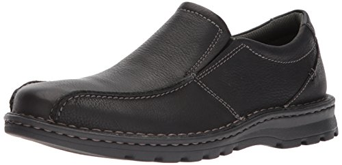 Clarks Men's Vanek Step Shoe, black oily leather, 12 Medium US