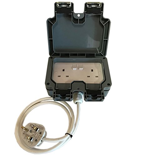 Outdoor Garden Extension Lead Socket Box IP65 Rated 5m Cable