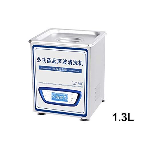 BBGS Limpiador Ultrasónico, Acero Inoxidable Ultrasónico Maquina de Limpieza con Calentador para Gafas de Joyería Instrumentos de Laboratorio Dental (Size : 1.3L)