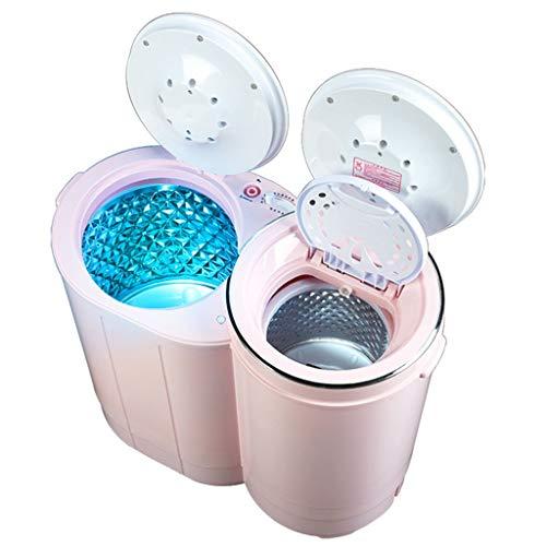 Lavadoras Mini Máquina De Lavado Mini Secadora Arandela Pequeña De Dos Cilindros Semi-automático De La Máquina De Elución De Lavado Integrada (Color : Pink, Size : 60.5x31.5x62cm)