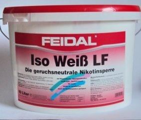 Feidal Iso Weiß LF, Nikotinsperre / 10 L / Isoliert Flecken (Fett, Ruß- u. Nikotinflecken ) hochdeckend, Farbton Weiss, matt
