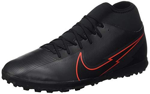 Nike Unisex Superfly 7 Club TF Football Shoe, Black/Black-Dark Smoke Grey-Chile Red, 43 EU