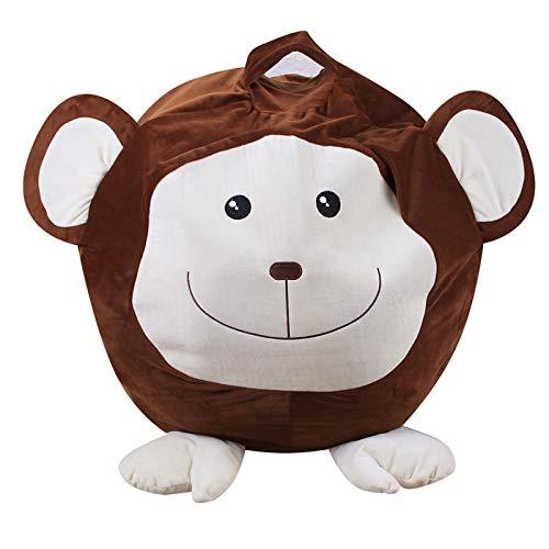 Tierform Kinder Spielzeug Aufbewharungstasche Organizer Flauschigen Liege Sofa für Kinder Erwachsene Sitzen und Schlafen (ohne Füllstoff),Little Monkey