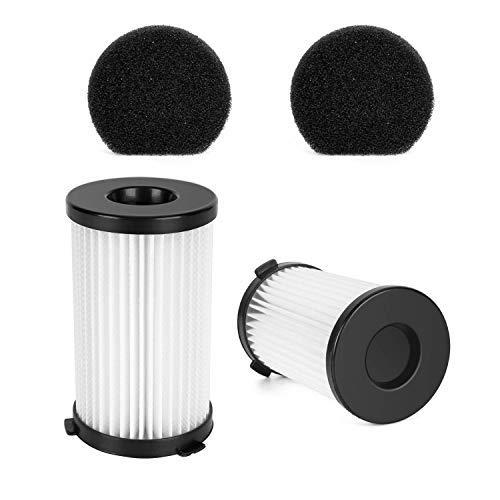 MooSoo 2 HEPA Filter und 2 Schwammfilter für D600 Staubsauger