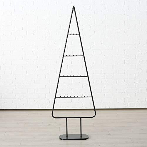 Spetebo XL Design Metall Tannenbaum für Zierschmuck - 156 cm - Deko Weihnachtsbaum Tanne schwarz