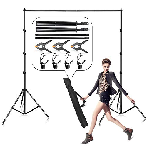 Photo Backdrop Stand, Gloshooting 8.5 x 10 ft Adjustable Muslin Photography Background Support System Stand for Video Photo Studio