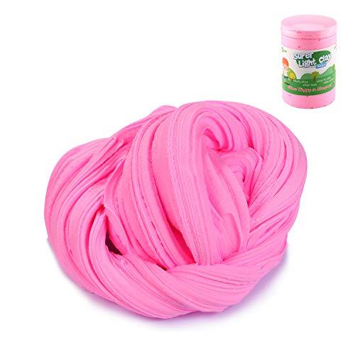 Luclay DIY Fluffy Schleim Kinder Putty Spielzeug Geschenke Slime Stress Relief Toy für Kinder und Erwachsene Weich (Pink)