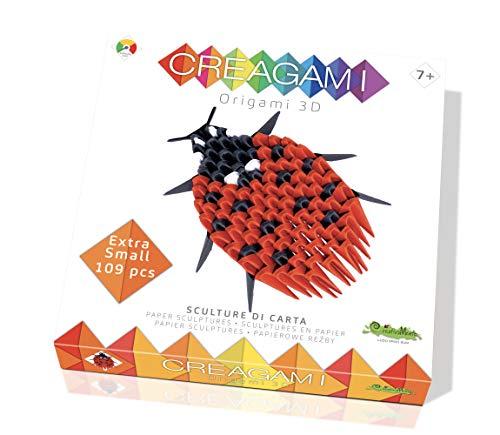 CreativaMente- Creagami Coccinella Gioco di Creativita Origami Modulari, Multicolore, 701