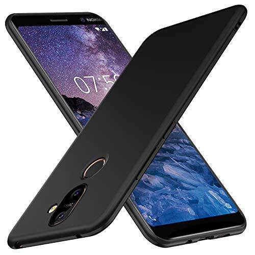 iBetter Nokia 7 Plus Hülle, Ultra Thin Tasche Cover TPU Silikon Handyhülle Stoßfest Hülle Schutzhülle Shock Absorption Backcover Hüllen für Nokia 7 Plus Smartphone (Schwarz)