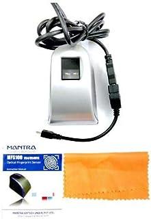 Mantra MFS100 v54 OTG with RD Service Finger Print Scanner (Black)