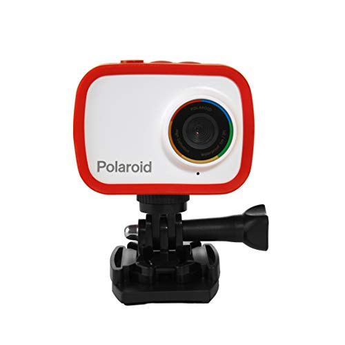 Polaroid Sport Action Camera 720p 12.1mp, Waterproof Camcorder Video Camera with Built in Rechargeable Battery and Mounting Accessories, Action Cam for Vlogging, Sports, Traveling