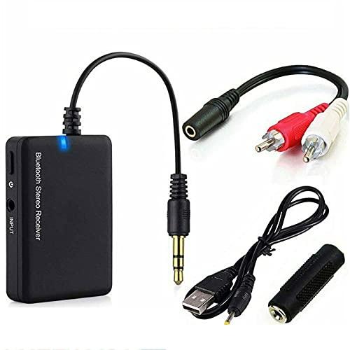 Nicoone Adaptador de música inalámbrico Aduio receptor inalámbrico BT receptor de audio inalámbrico estéreo adaptador de música para altavoz con cable, 3,5 mm