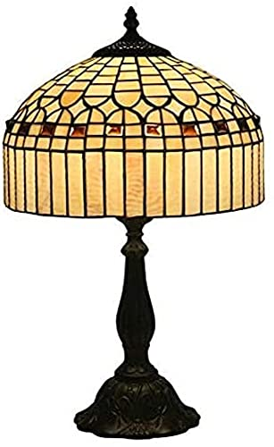 LIUYULONG Lámparas de mesa decorativas de Tiffany, 12 pulgadas de decoración simple manchó la luz de la noche de las lámparas de mesa de cristal