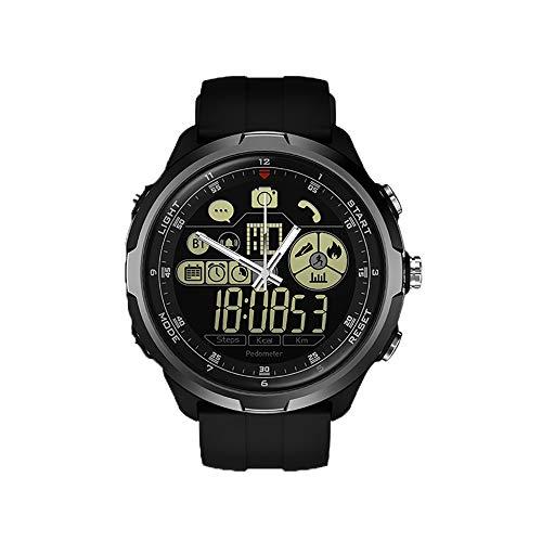 FOUR Heren digitaal horloge met, stappenteller stopwatch waterdicht LED display militaire sport horloge