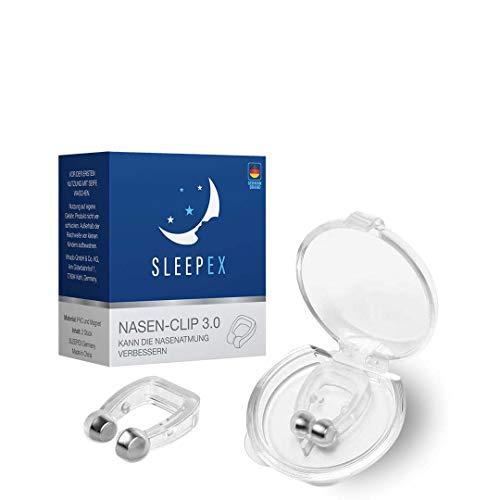 SLEEPEX Anti Schnarch Nasenclip 2021 BPA frei - Weltneuheit Schnarchstopper hilft endlich gegen Schnarchen - Magnetischer Nasenring als anti Schnarch Mittel - Nasenklammer als Nasenpflaster, 30g