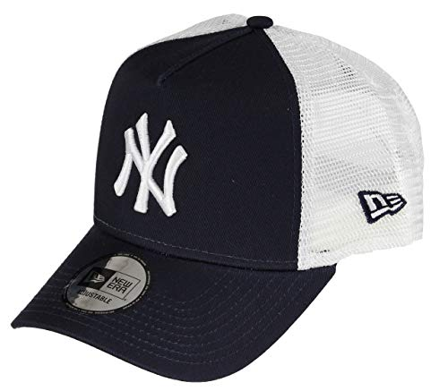 New Era York Yankees Frame Adjustable Trucker Cap Clean Navy/White - One-Size