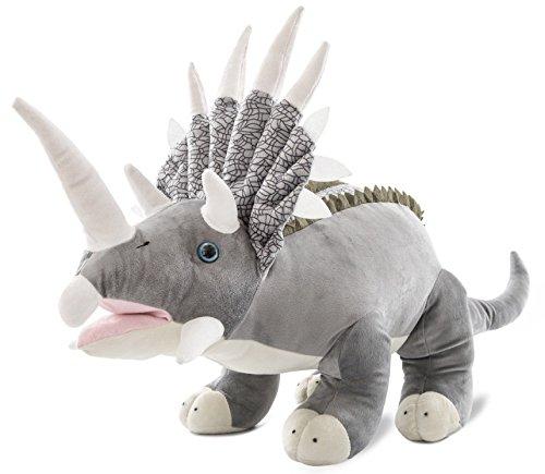Wagner 4513 - Plüschtier Dinosaurier Triceratops - 50 cm Gross - Dino Kuscheltier