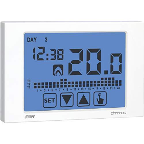 Vemer VE451100cronotermostato Chronos Touch Screen de Pared, Blanco