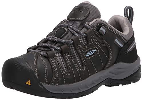 KEEN Utility womens Flint Ii Low Soft Toe Construction Shoe, Steel Grey/Paloma, 8.5 US