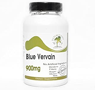 Blue Vervain 900mg ~ 180 Capsules - No Additives ~ Naturetition Supplements