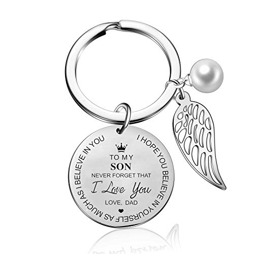 to My Son Keychain from Dad Mom Inspirational Gift Never Forget That I Love You Forever Birthday Gift Graduation Gifts (to My Son from dad)