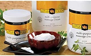 Multi-Purpose Massage Cream by Lotus Touch - 100% Pure Ingredients - Rejuvenating & Hydrating Borage & Grapeseed Oils, Calming Arnica & Ivy Extracts - Perfect Glide, Maximum Control - (1 Gallon)