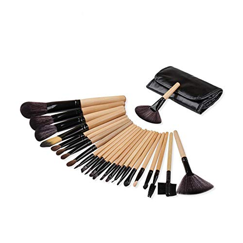 MEISINI Pinceaux de maquillage manche bois Set pinceau poudre poudre contour Contour Make Up Tools With Bag, 1