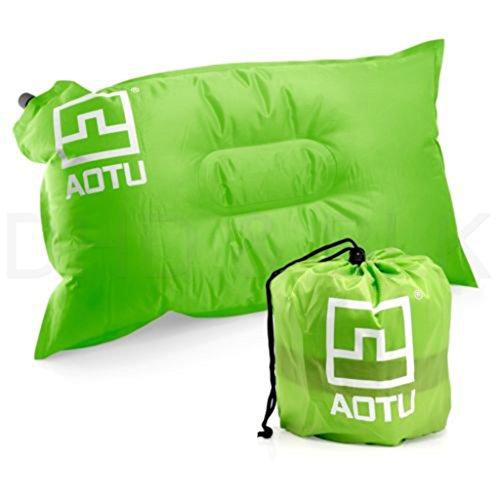 MagiDeal Coussin d'air Extérieur Gonflable Auto-Gonflable d'oreiller pour Camping Pique-Nique - Vert