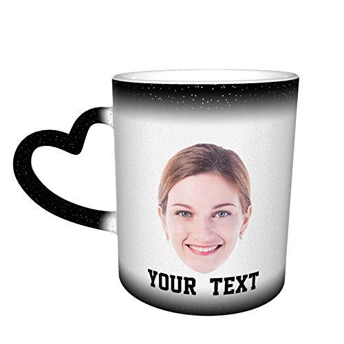 Taza de foto personalizada Taza de té de café Imágenes de caras...