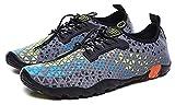HAOKTSB Zapatos Anfibios Antideslizantes de Secado rápido para Hombre Sandalias al Aire Libre Sandalias de Agua de Verano Calcetines de Agua Zapatos de Playa (Color : Grey, Size : 43EU)