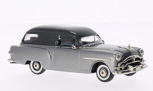 Packard Henney Junior Hearse, metallic-grau metallic-dunkelgrau, 1953, Modellauto, Fertigmodell, Brooklin 1 43