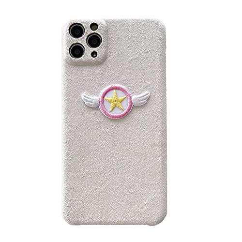 ZMMZ Anime Sailor Moon - Carcasa para iPhone 11 11Pro 11Pro Max 7 8 7Plus 8Plus X XS XR XS Max 12 Pro Max Mini, franela antideslizante, color rosa