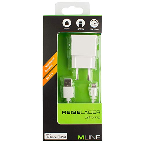 Travel Charger Single USB 2.1A & Charging & Data Cable MFI for Apple Lightning